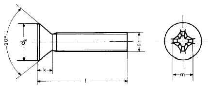 countersunk screw Niro M2x4 (10 pieces)