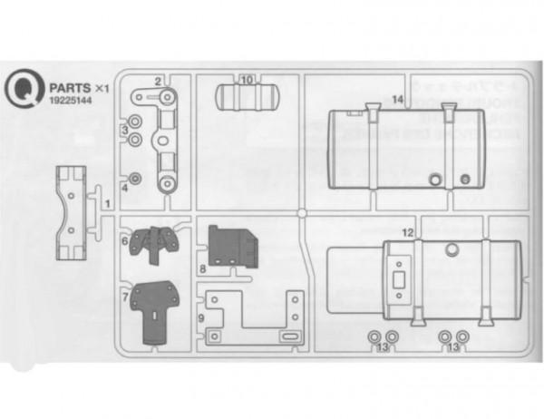 Tamiya 319225144 Tamiya Actros Q-Parts