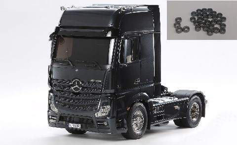 Tamiya 300056342 Mercedes-Benz Actros 1851 GigaSpace (Black Edition)