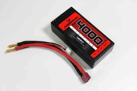 Absima 4130030 Shorty Pack LiPo 7.4V-90C 4000 Hardcase (Tubes)