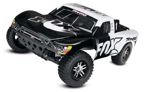 Traxxas 58076-4 Slash VXL Fox RTR ohne Akku/Lader 1/10 2WD Short Course Racing Truck Brushless