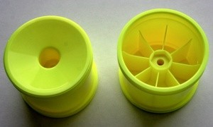 Asso 7853 Truck-rims 1:10, Dish, yellow, T4/T4.1/T4.2 with 12mm hex