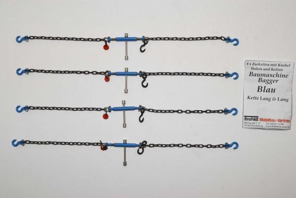 Tönsfeldt 030063 TMV 4 pcs Lashing chains with toggle for excavator, blue