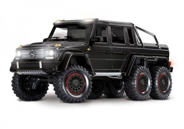 Traxxas 88096-BLK TRX-6 Mercedes-Benz G63 AMG 6x6 RTR ex battery/charger 1/10 6WD Scale-Crawler Brushed black