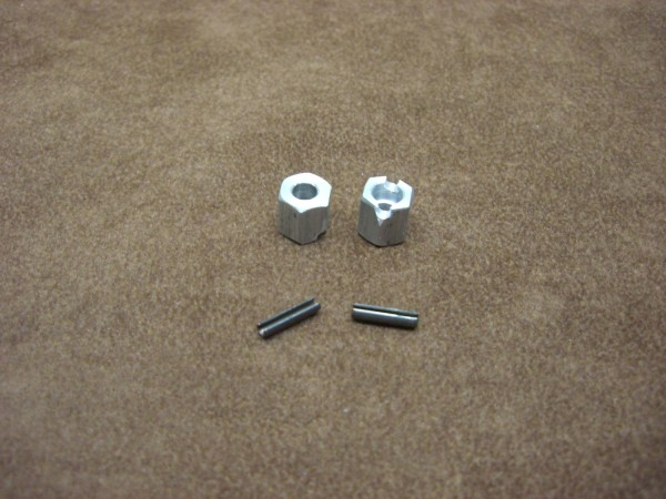 hexagon rim adaptors 8mm with slot (2 pieces)