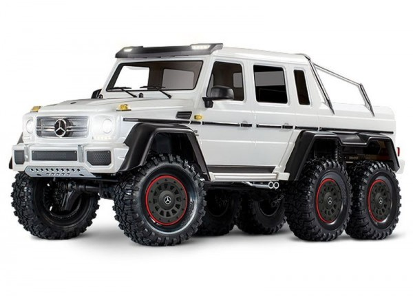 Traxxas 88096-4WHT TRX-6 Mercedes-Benz G63 AMG 6x6 RTR ex battery/charger, incl light 1/10 6WD Scale-Crawler Brushed white