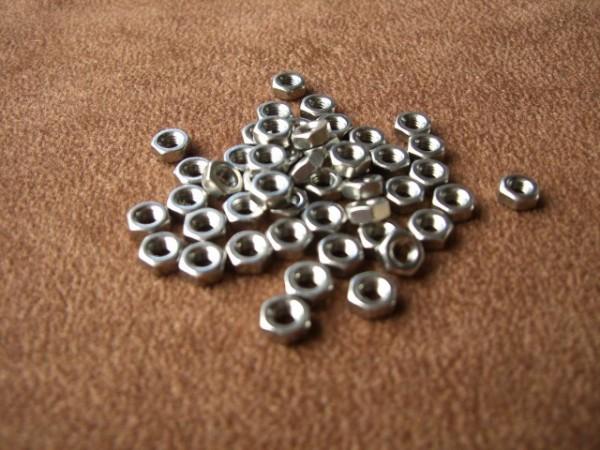 hexagon nuts M2,5 (50 pieces)