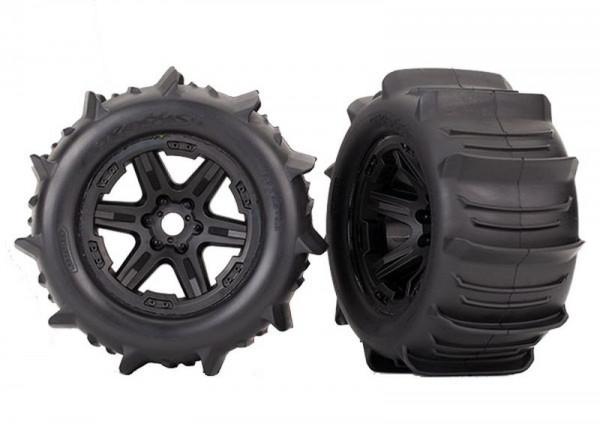 Traxxas 8674 Wheels, black 3.8 Paddle (2) (TSM rated)