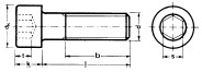 Innensechskantschrauben M2,5x16 Niro (10St) DIN912