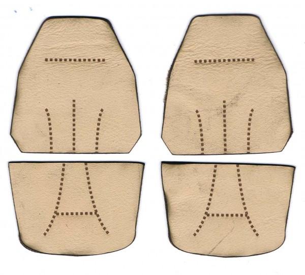 Ledersitzbezüge, hellgrau für Tamiya Volvo