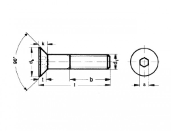 countersunk screw Niro M3x10 (10 pieces)