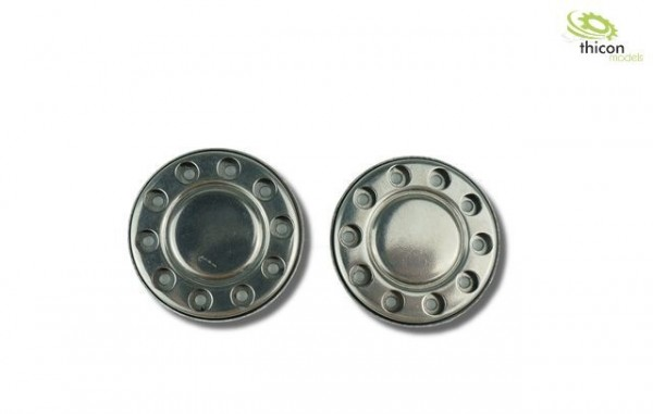 Thicon 50137 1:14 Hub cover for Euro rims in stainless steel
