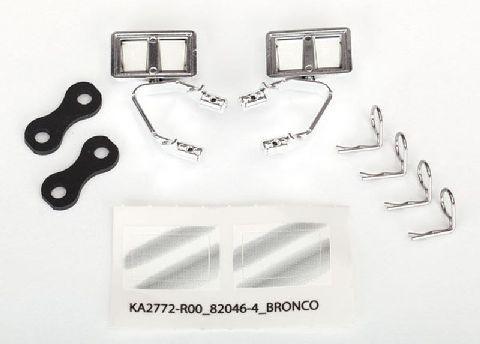 Traxxas 8073X TRX-4 Seiten-Spiegel, Chrome l&r, Retainers (2), Body Clips (4)