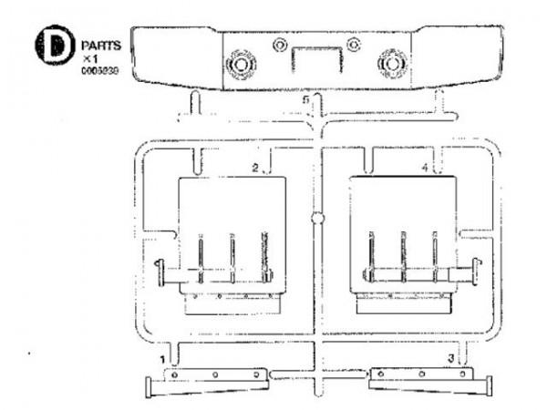 Tamiya 300005939 Knight-Hauler D-parts