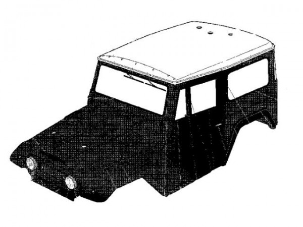 Tamiya 301825522 CR-01 Body