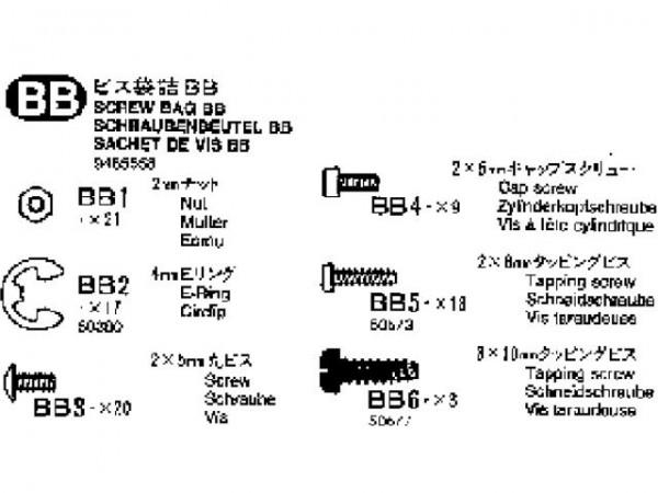 Tamiya 309465558 Volvo Schraubenbeutel (Bag BB)