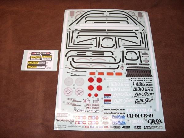 Tamiya 309495539 CR-01 Stickers