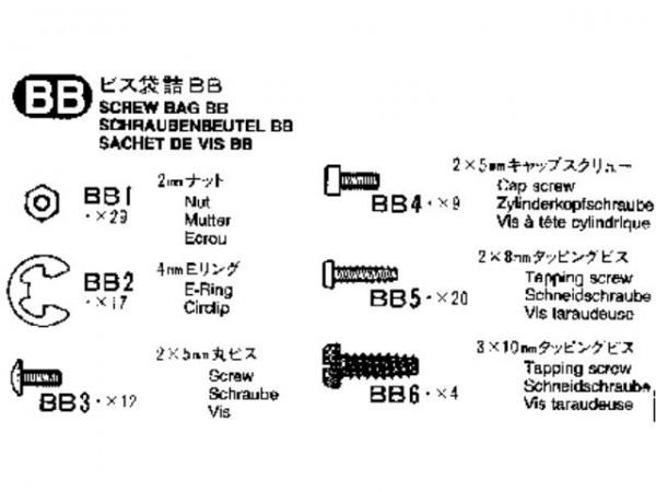 Tamiya 309465535 MB1838 Schraubenbeutel (Bag BB)