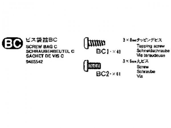 Tamiya 309465542 MB1850L screw bag (Bag BC)