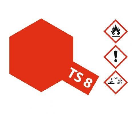 Tamiya 300085008 TS-8 italian red brillant 100ml