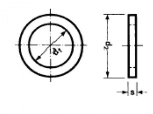 Scheibe 2,5mm Niro (50 Stück) DIN125A