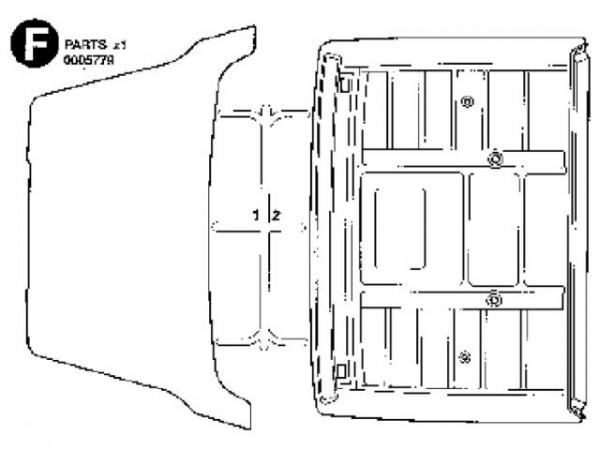 Tamiya 300005779 Volvo roof and spoiler (F-Parts)