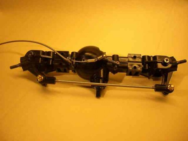 Tamiya Highlift axle with cable locks