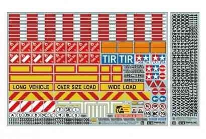Tamiya 300056534 1:14 Warndekor für Lkws und Auflieger