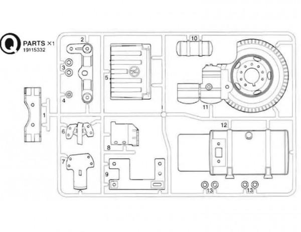 Tamiya 319115332 MAN TGX 18.540 Q-parts