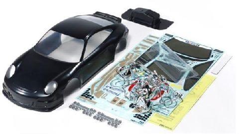 Tamiya 300047365 Karosserie Porsche 911 GT3 schwarz vorlackiert