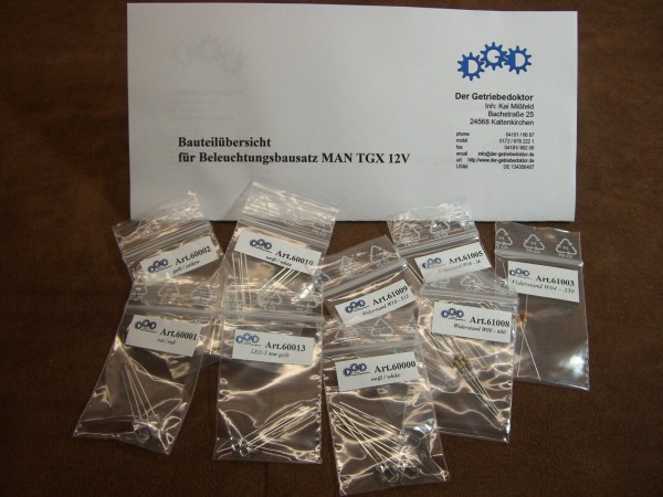 MAN TGX Beleuchtungsbausatz 12V