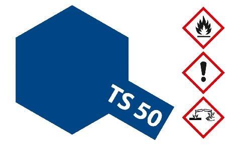 Tamiya 300085050 TS-50 mica blau (Glimmer) glänzend 100ml