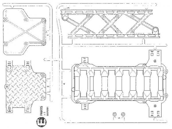 Tamiya 309005891 CR-01 E-Parts