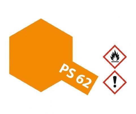 Tamiya 300086062 PS-62 Pure Orange 100ml Spray