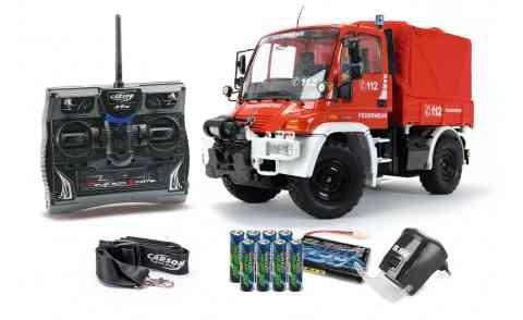 Carson 500707109 1:12 Unimog Feuerwehr 100% RTR