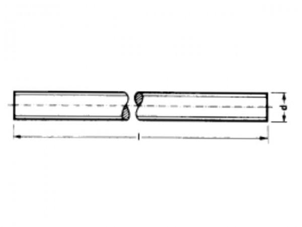 Gewindestange M4 Stahl verz