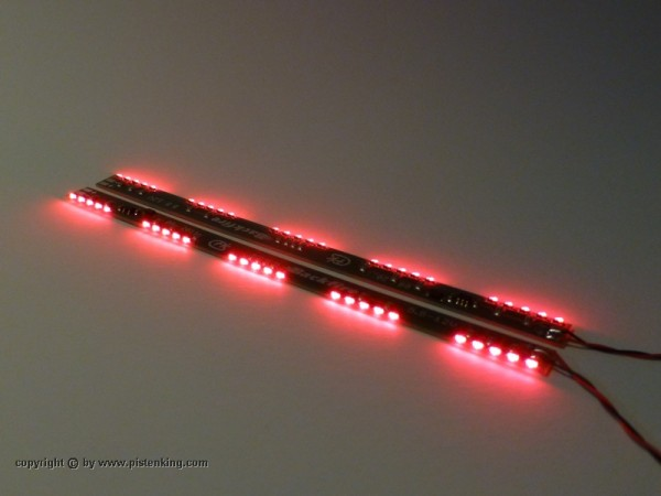Pistenking BackFire 5x5 Back-Fire LEDs 130x7,5mm, red 5x5 (2 Stück)