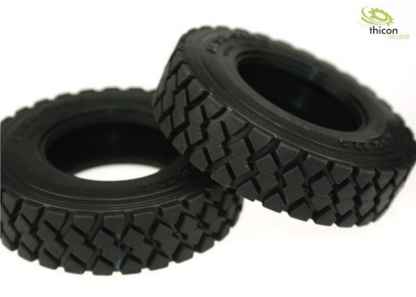 "Thicon 50023 1:14 Tires ""terrain"" with inserts narrow pair"