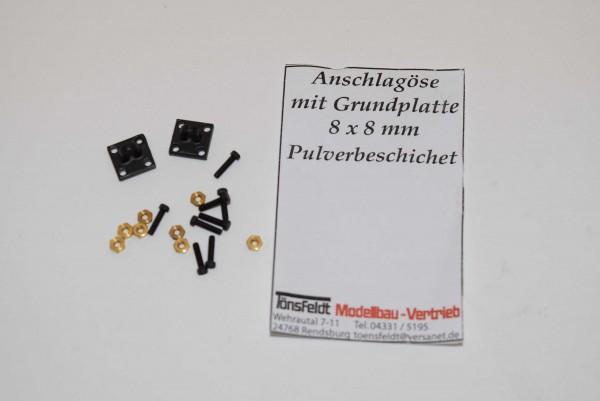 Tönsfeldt 030408 2 TMV Anschlagpunkt Grundplatte 8×8 Öse klein für Anschlaghaken, oliv