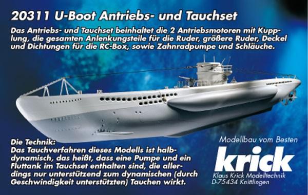Krick 20311 U-Boot Antriebs- und Tauchset