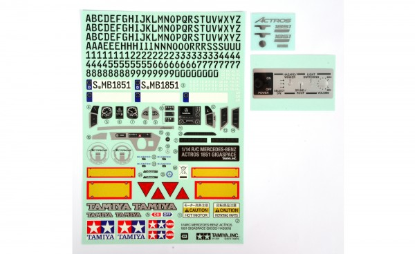 Tamiya 319495770 Sticker, Metal Transfer MB Actros 56335