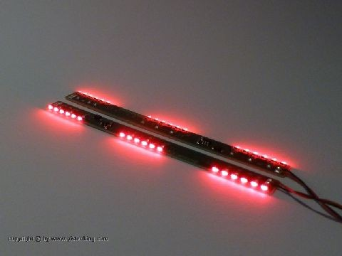 Pistenking Back-Fire LEDs 100x7,5mm, red (2 Stück)
