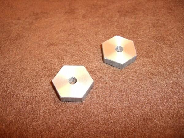 hexagon adaptors 17mm (2 pieces)