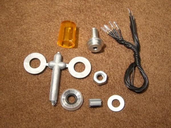 Veroma 222538 Head light for assembly on diagonal ground 1:10 orange