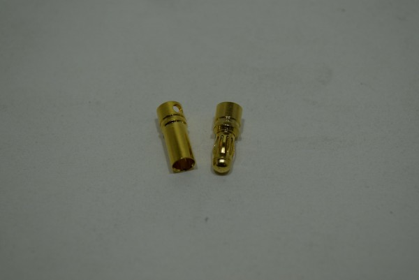 3,5mm Lamellen Goldstecker + Buchse