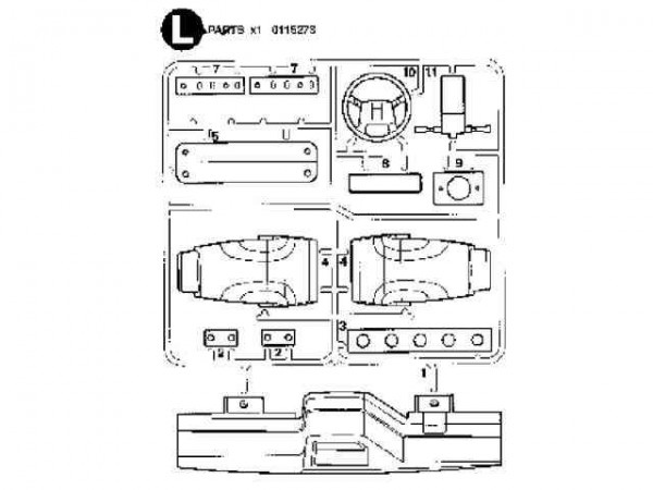 Tamiya 300115273 Volvo interieur (L-Parts)