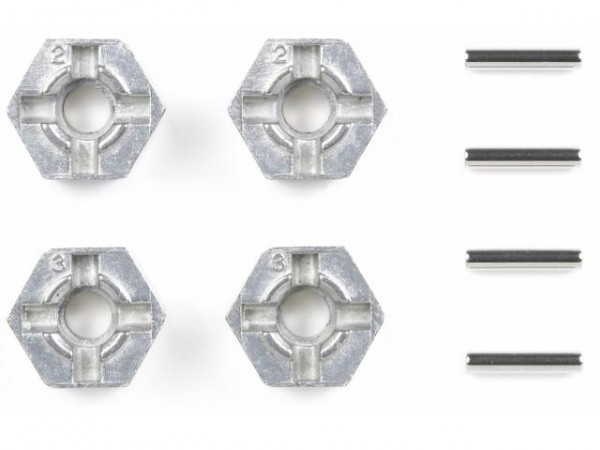 Tamiya 300053056 12mm hexagon adaptors