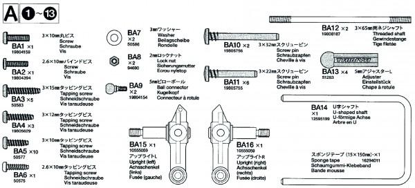 Tamiya 319402705 DT-03 - Metal Bag A