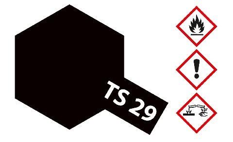 Tamiya 300085029 TS-29 black semi gloss 100ml