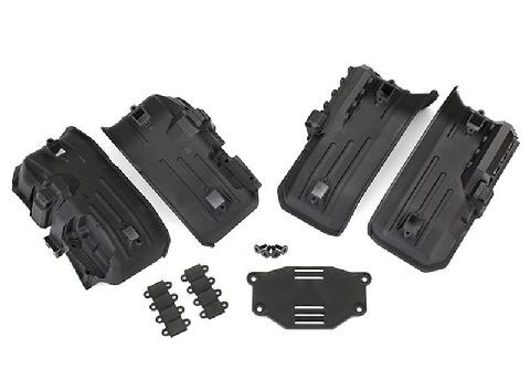 Traxxas 8072 Fender innen vo/hi (je 2) / Rock Light Covers (8)/ Akku-Plat